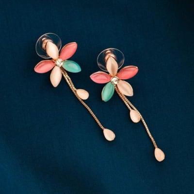 Aavika Floral Long Earrings