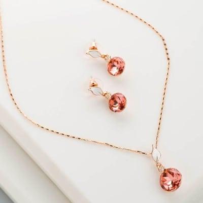 Flames Pendant Necklace Set