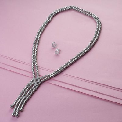 Charisma Pearl Long Necklace Set