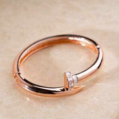 Naomi Open Bangle Bracelet - Blingvine