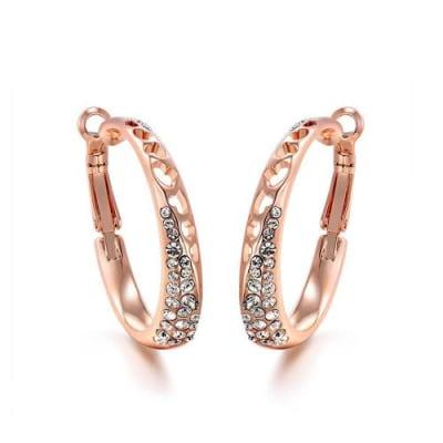 Aztec Hoop Earrings - Round