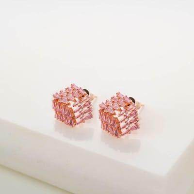 Amy Rose Gold Stud Earrings