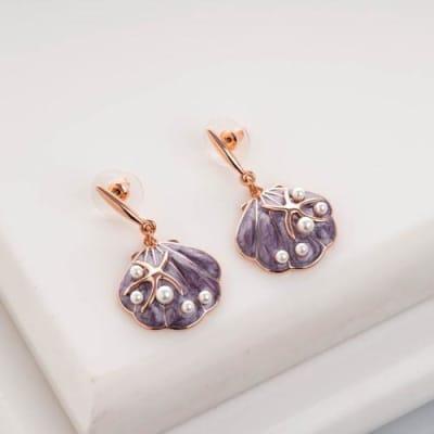 Seaworld Enamel Earrings - Blingvine