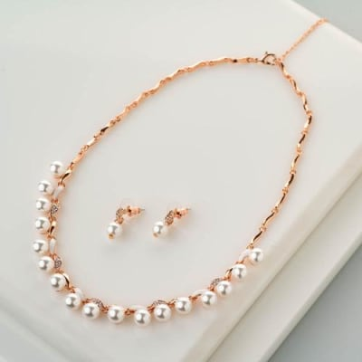 Maahika Pearl Necklace Set - Blingvine