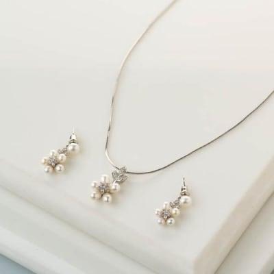 Bahaar Pearl Pendant Necklace Set