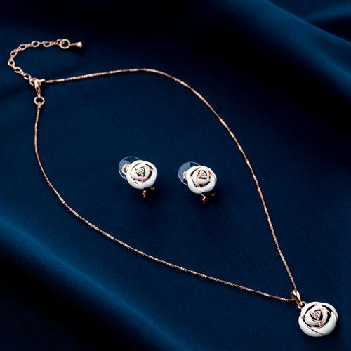 Rose Pendant Set - BlingVine