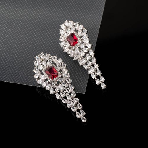 Victoria Danglers - Ruby Red - BlingVine