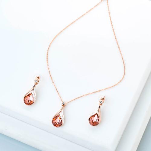 Honey Drop Pendant Set - BlingVine