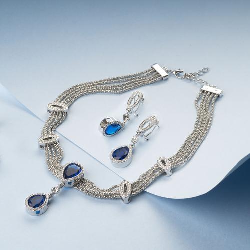 Sapphire Necklace Set