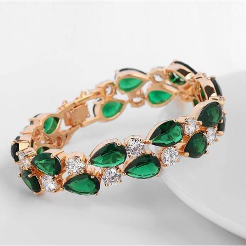 Emerald Green Vibrant Bracelet - BlingVine