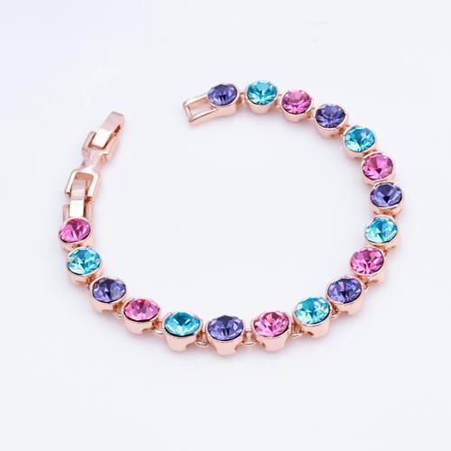 Grace Colored Crystals Bracelet - BlingVine