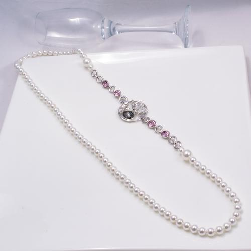 Elektra Pearl Long Necklace - BlingVine