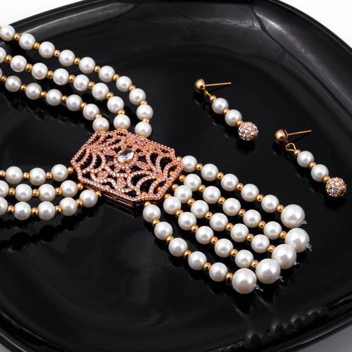 Rajwadi Pearl Necklace Set