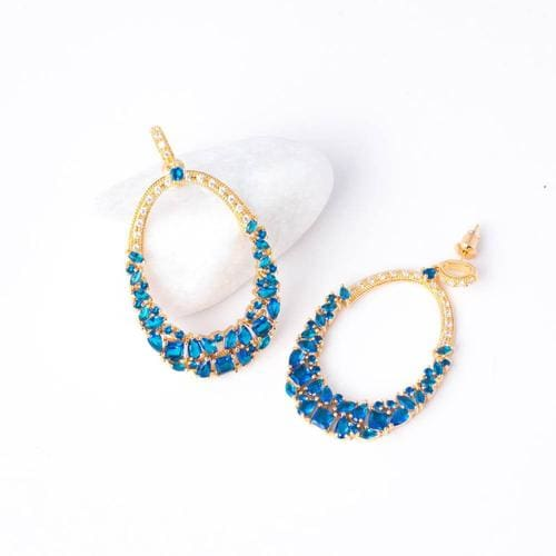 Glamista Blue Danglers - BlingVine