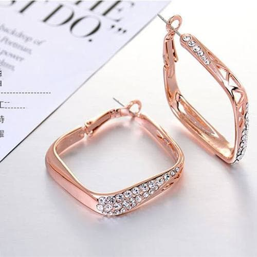 Aztec Hoops - Square - BlingVine