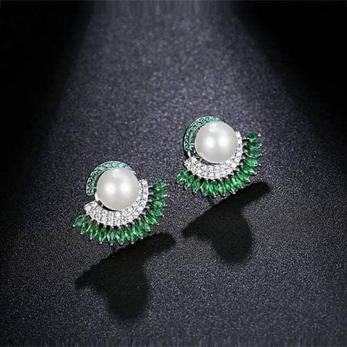 Dhani Green Crystal Studs - BlingVine