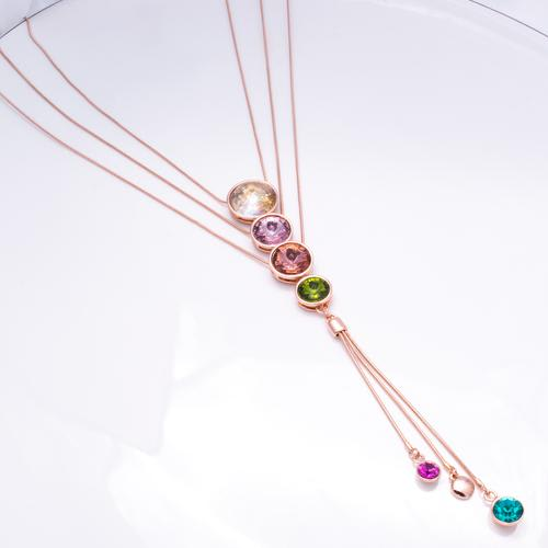 Rainbow Long Necklace - BlingVine