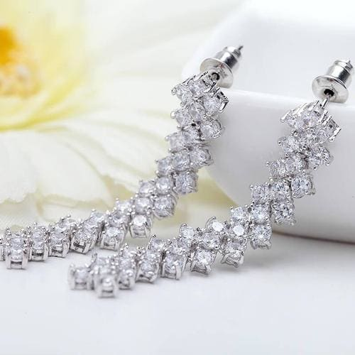 Classy Long Dangling Earrings - BlingVine