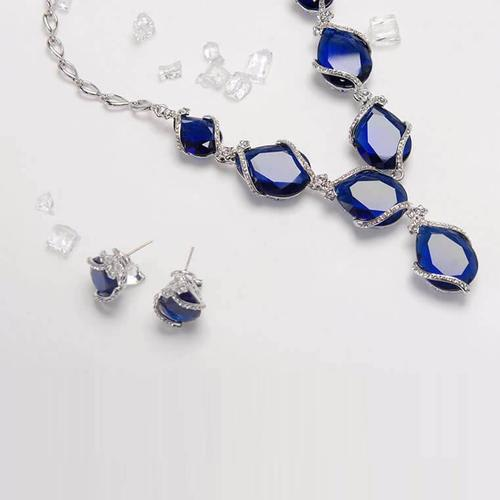 Blue Ocean Necklace Set - BlingVine
