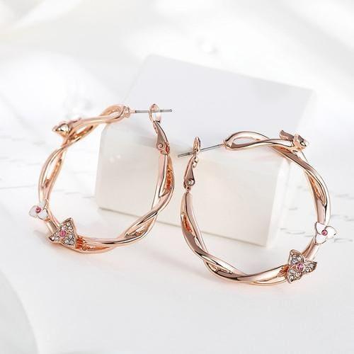 Pashmina Loop Earrings - BlingVine