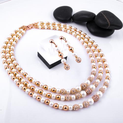 Padmini Pearl Necklace Set with Bracelet - BlingVine