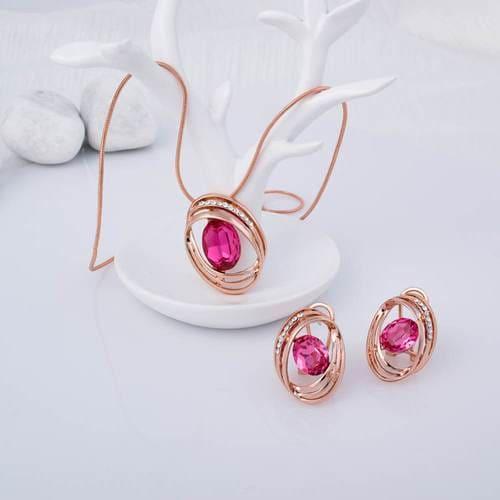 Pink Lady Pendant Set