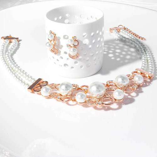 Day Dream Pearl Necklace Set - BlingVine