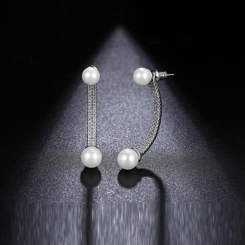 Lunar Pearl Studs - BlingVine
