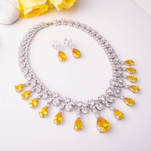 Amber Necklace Set - BlingVine