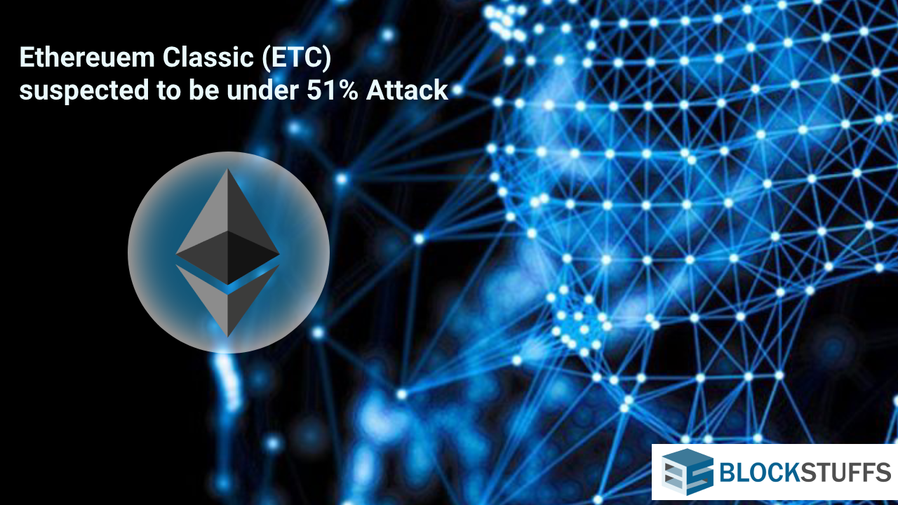 Ethereuem Classic (ETC) blockchain suspected to be under 51% Attack