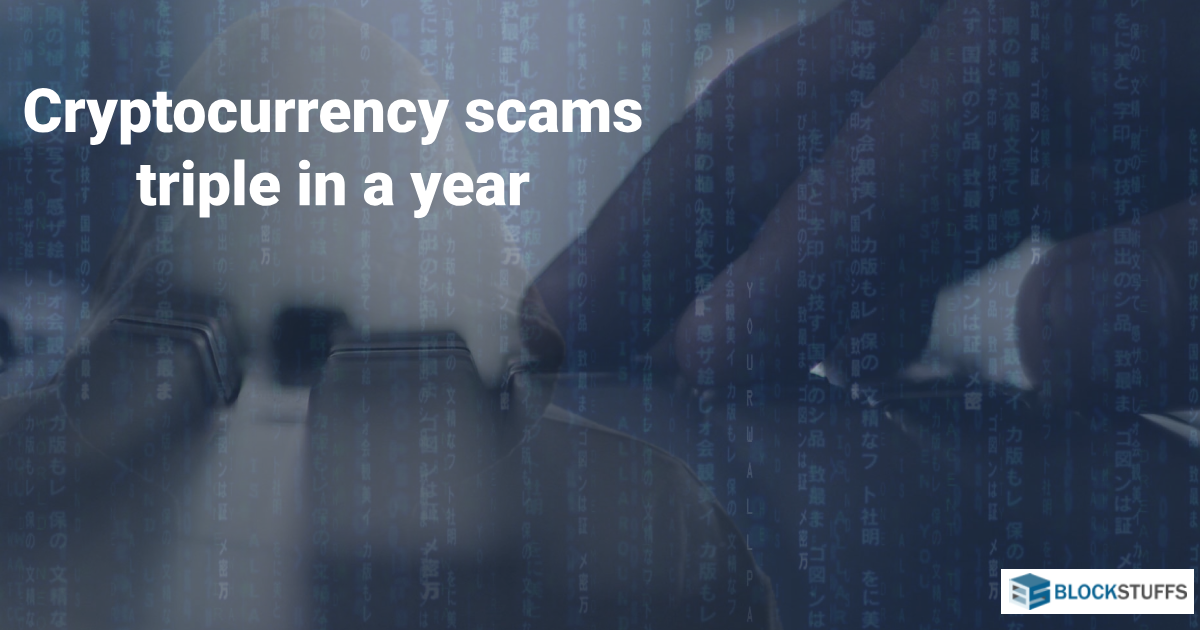 Cryptocurrency scams triple in a year