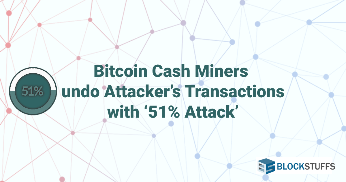 Bitcoin Cash Miners Undo Attacker's Transactions With '51% Attack'