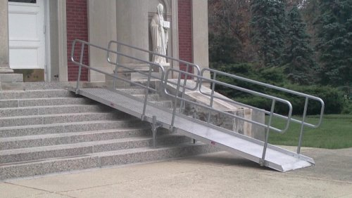 Disability Portable Handrails : Is my alma mater college wheelchair accessible handiramp