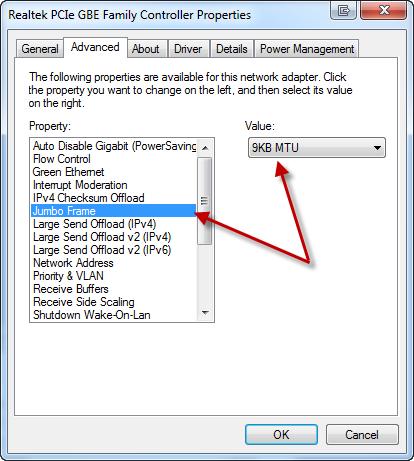 Configure your OS for Gigabit Ethernet   blog jeffcosta com