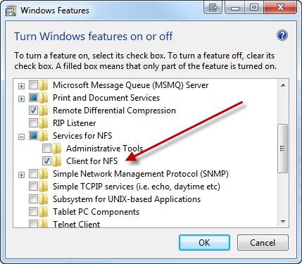 Map an NFS share on Windows 7 | blog jeffcosta com