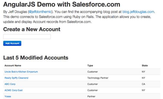 Angularjs And Salesforce Com Tutorial