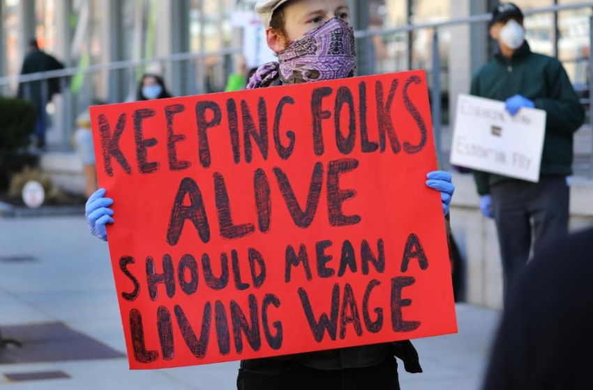 As Employers Cut Coronavirus Hazard Pay, What About A Living Wage?