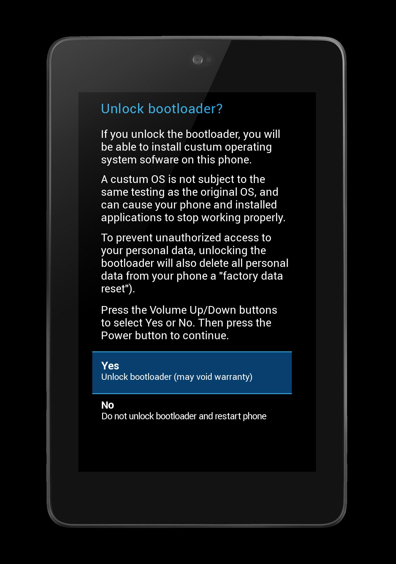 Nexus 7: reinstall stock rom and re-lock boot loader