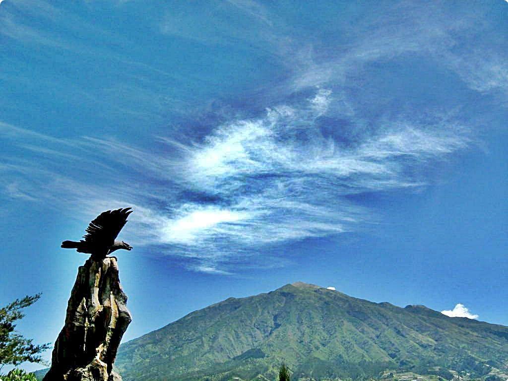 Melihat Gunung Merapi dari Ketep Pass