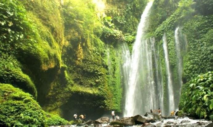 Wisata air terjun di Lombok Sendang Gile