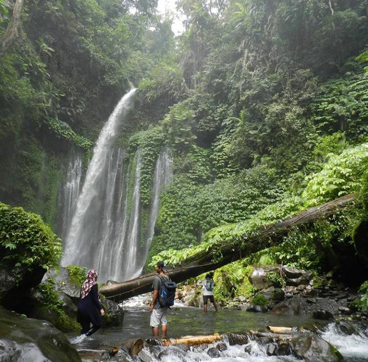 Wisata air terjun Batara Lejang Lombok