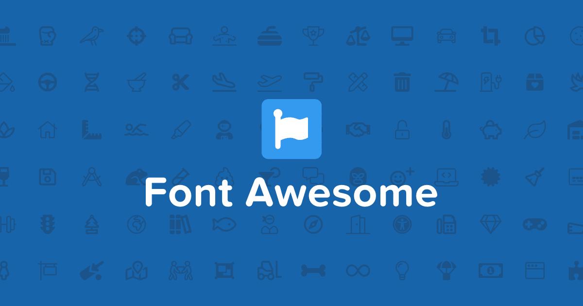 Cara Menggunakan Font Awesome 5 Terbaru
