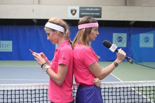 Tennis Au Féminin Ornella Fleury Marie Graine de Sportive Open GDF SUEZ de Paris