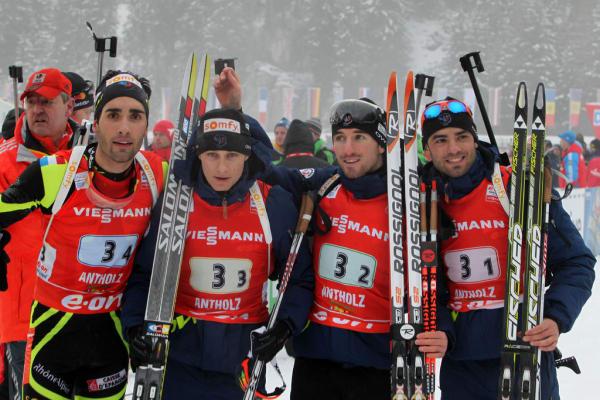 Biathlon :  Martin Fourcade - Alexis Boeuf - Guillaume Béatrix - Simon Fourcade
