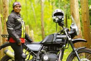 cover for Women rider setting off for Kanyakumari to Ladakh ride