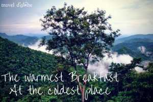 cover for The Warmest Breakfast at The Coldest Place of South India