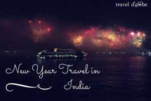 cover for New year destinations in India, for the last evening of the year