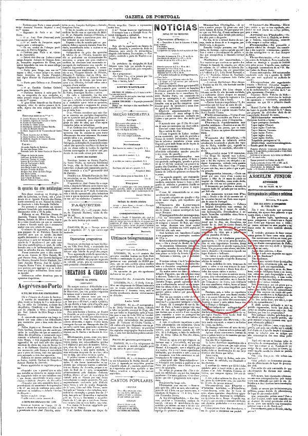 Gazeta de Portugal, 1889, nº542