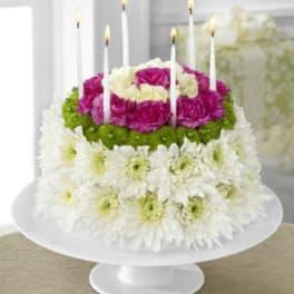THE FTDR WONDERFUL WISHESTM FLORAL CAKE