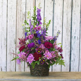 Tiptoeing Through Tulips After Madisons >> Purple Mixed Bouquets Delivery Sacramento Madison Avenue Florist